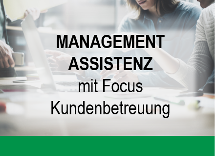 Button mit Text Management Assistenz